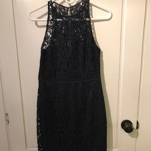 J. Crew Dresses - Navy J Crew Lace Overlay Dress
